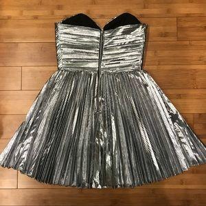 ASOS Dresses - Strapless silver sweetheart dress